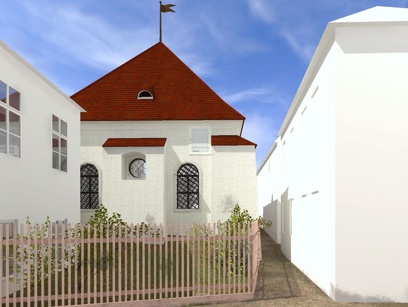 Rückseite der Synagoge