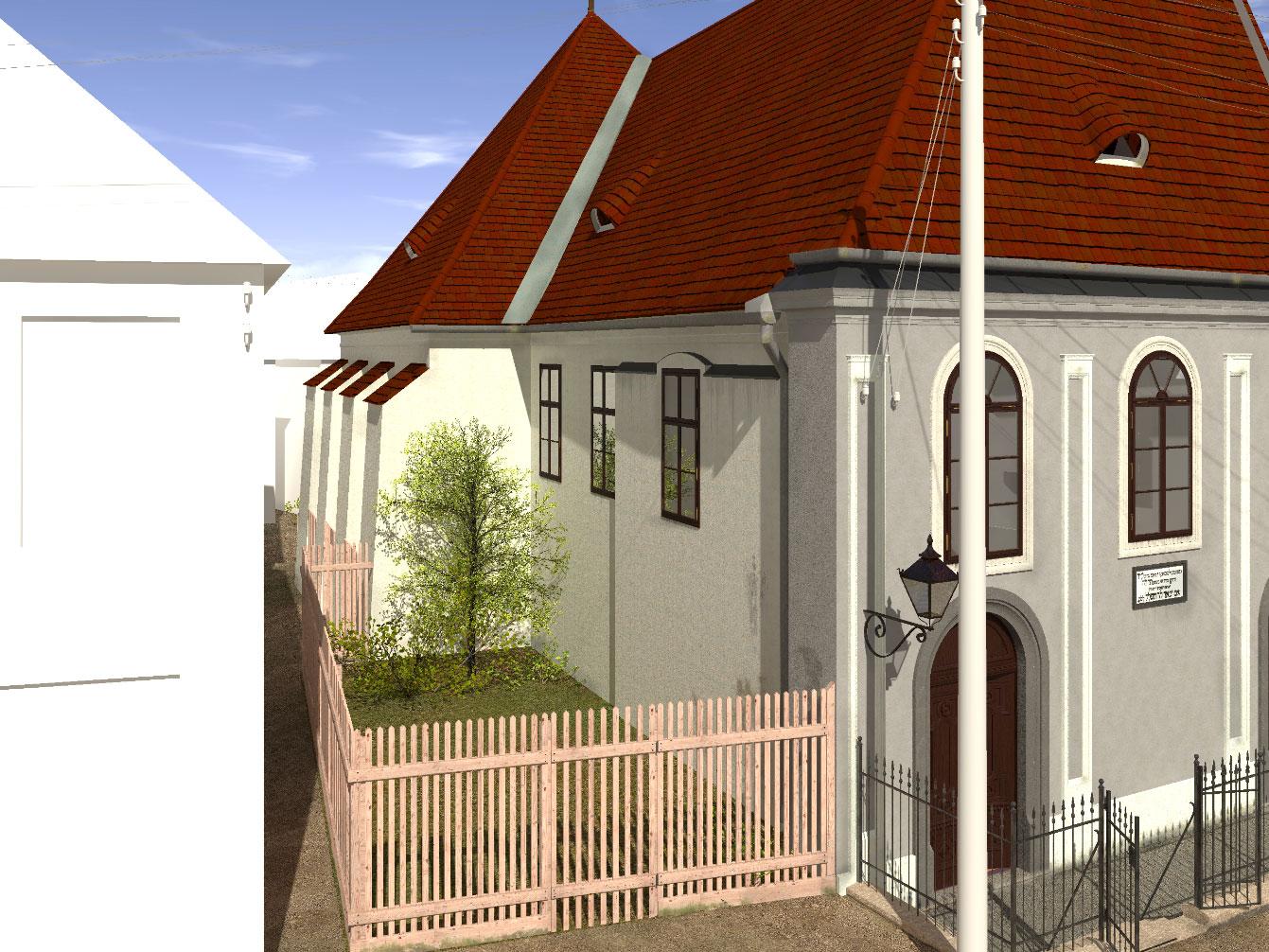 Nordfassade der Synagoge