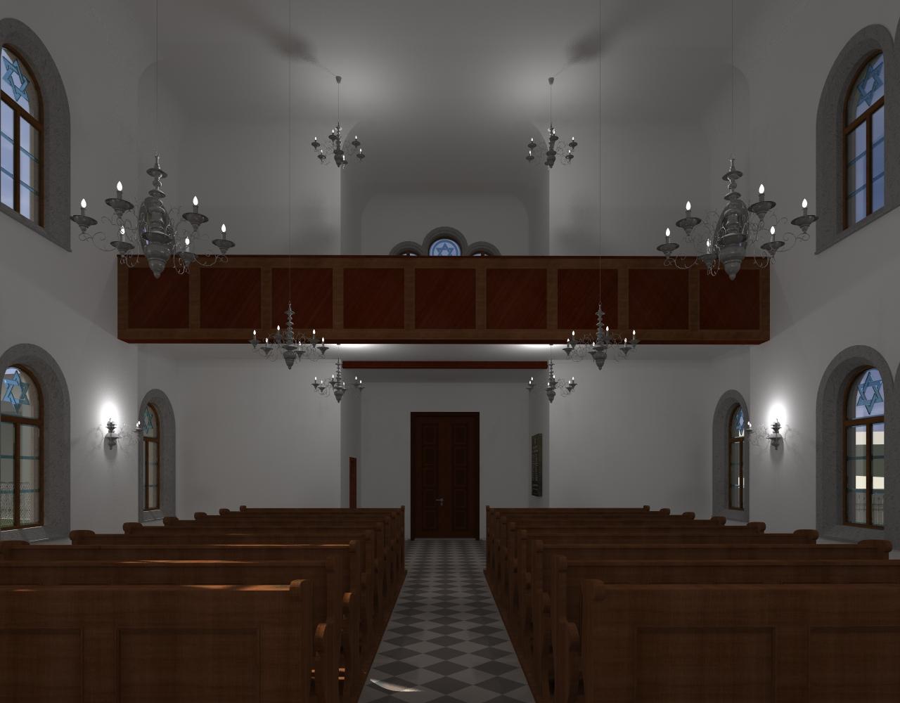 Betsaal und Frauenempore