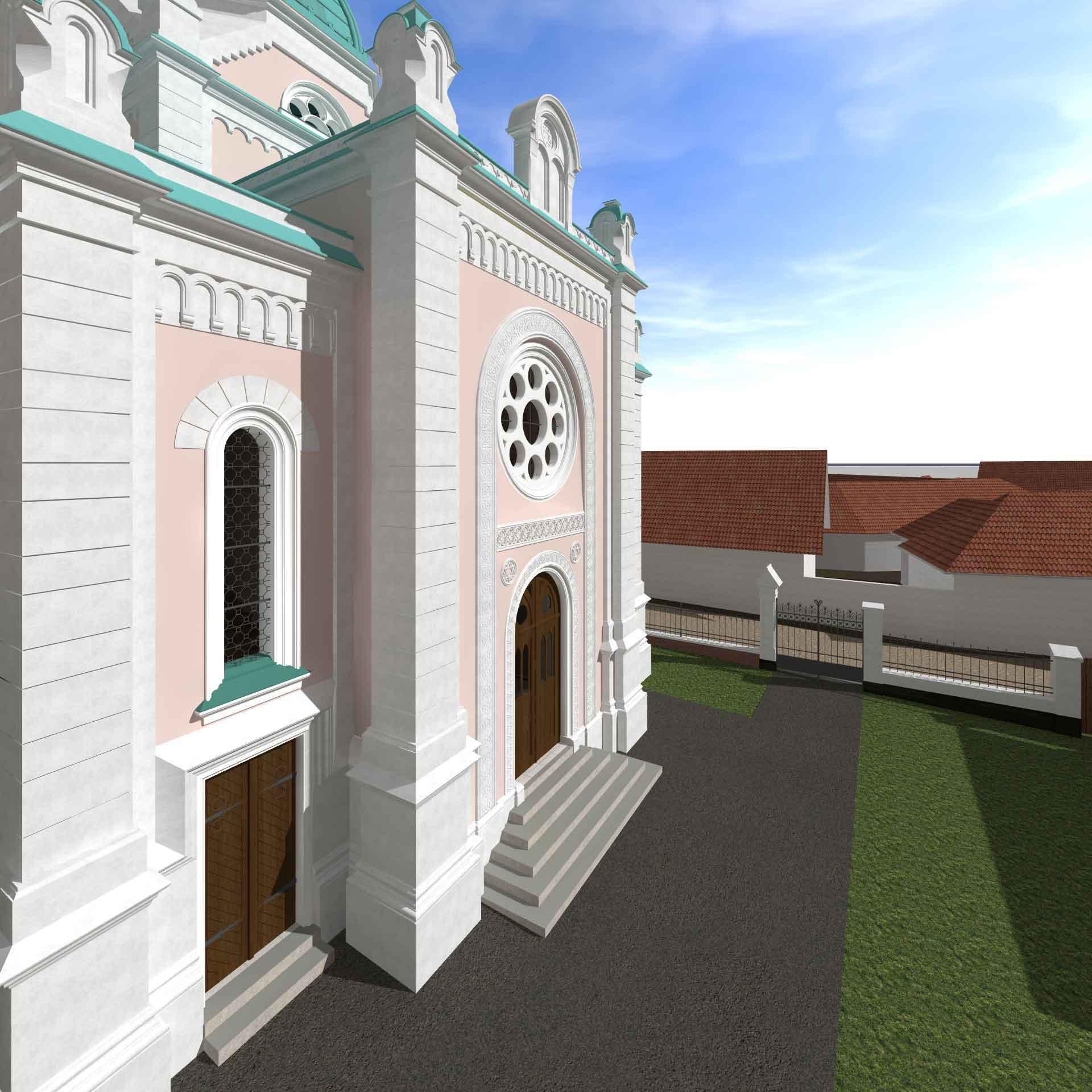 Eingangsfassade mit Vorplatz