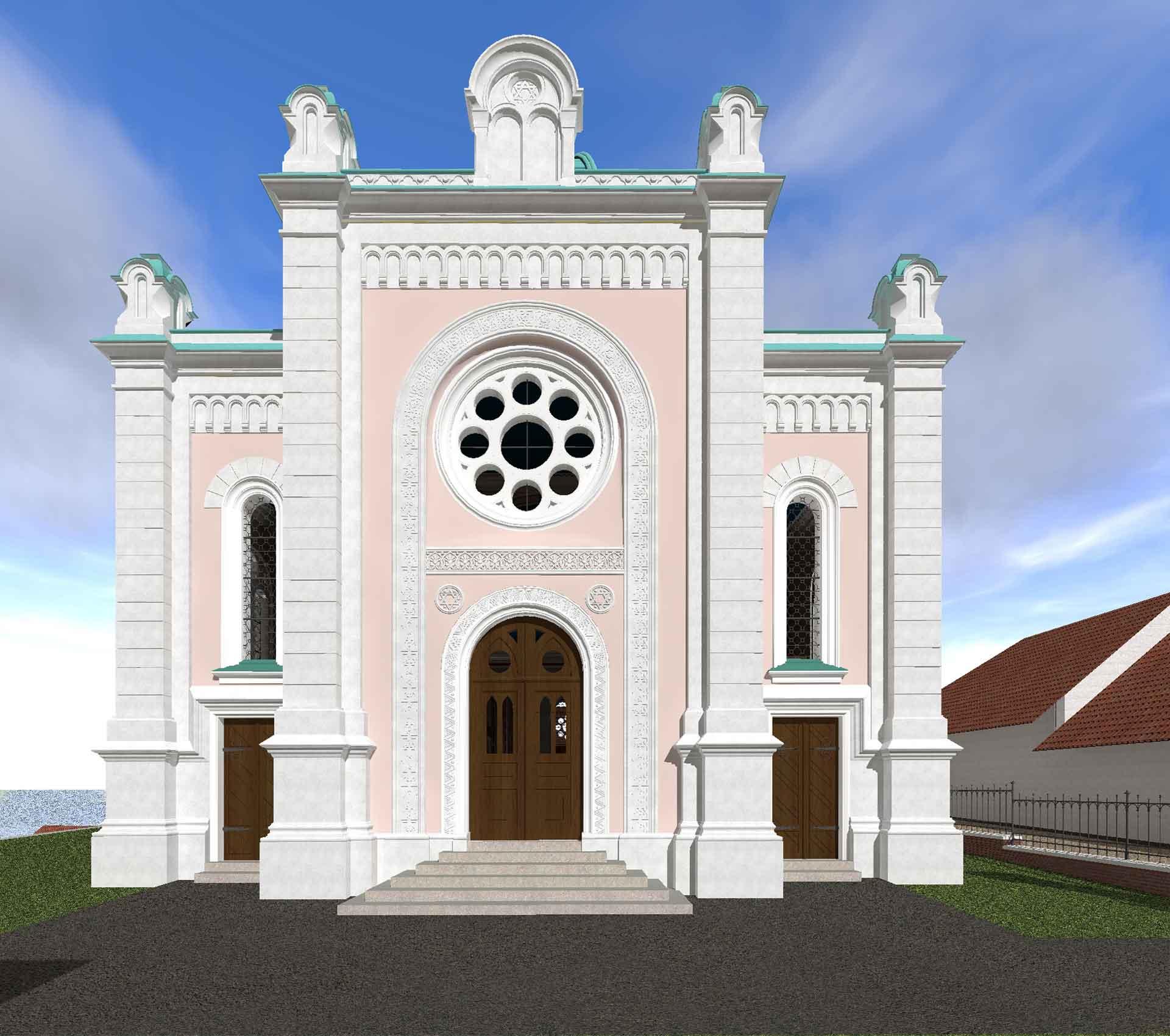 Eingangsfassade der Synagoge