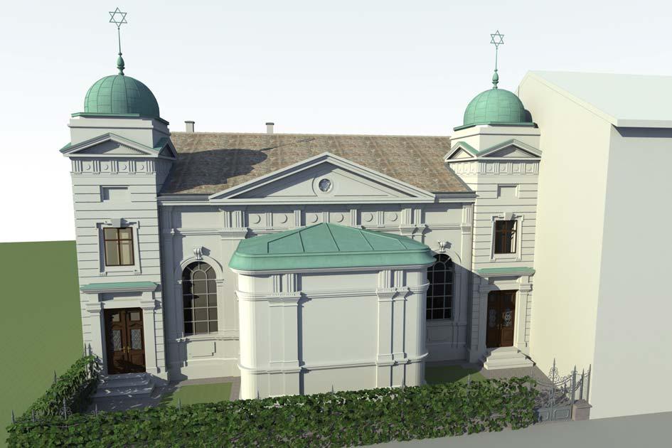 Ostfassade mit Haupteingängen nach dem Umbau