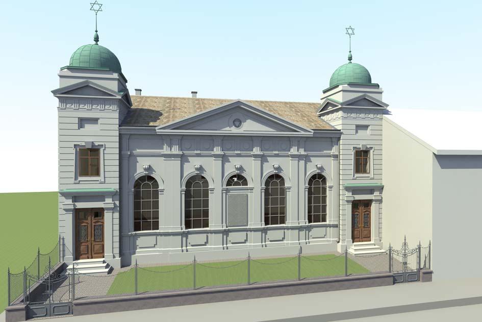 Ostfassade mit Haupteingängen vor dem Umbau
