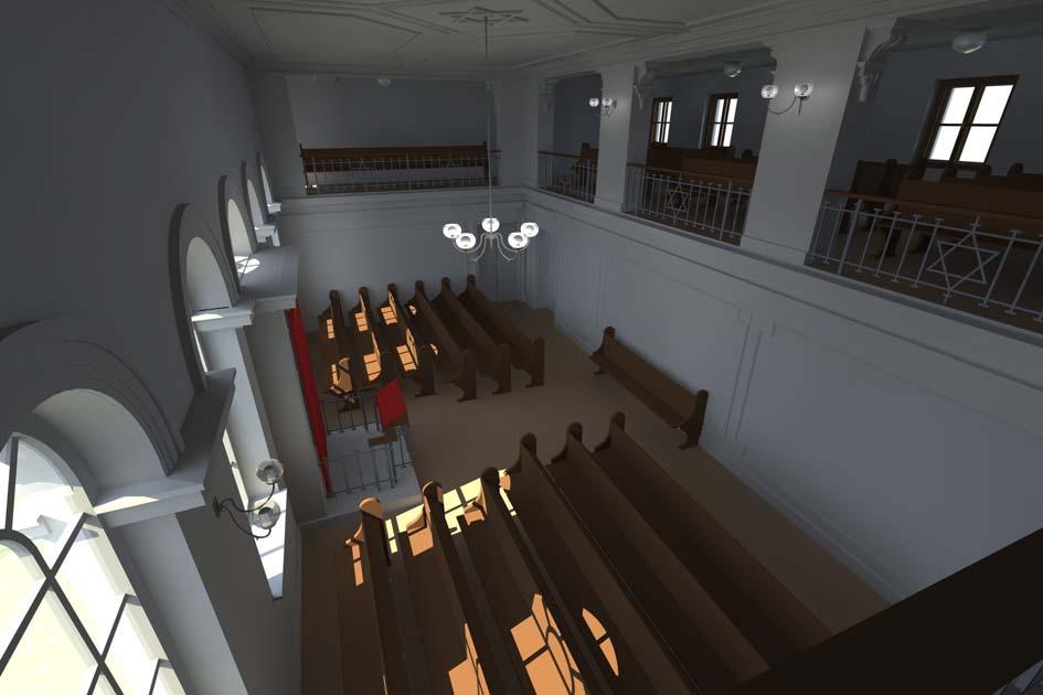 Betsaal vor dem Umbau