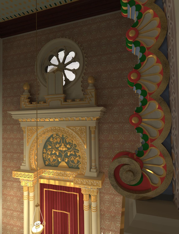 Detail des Bogens an der nördlichen Innenwand