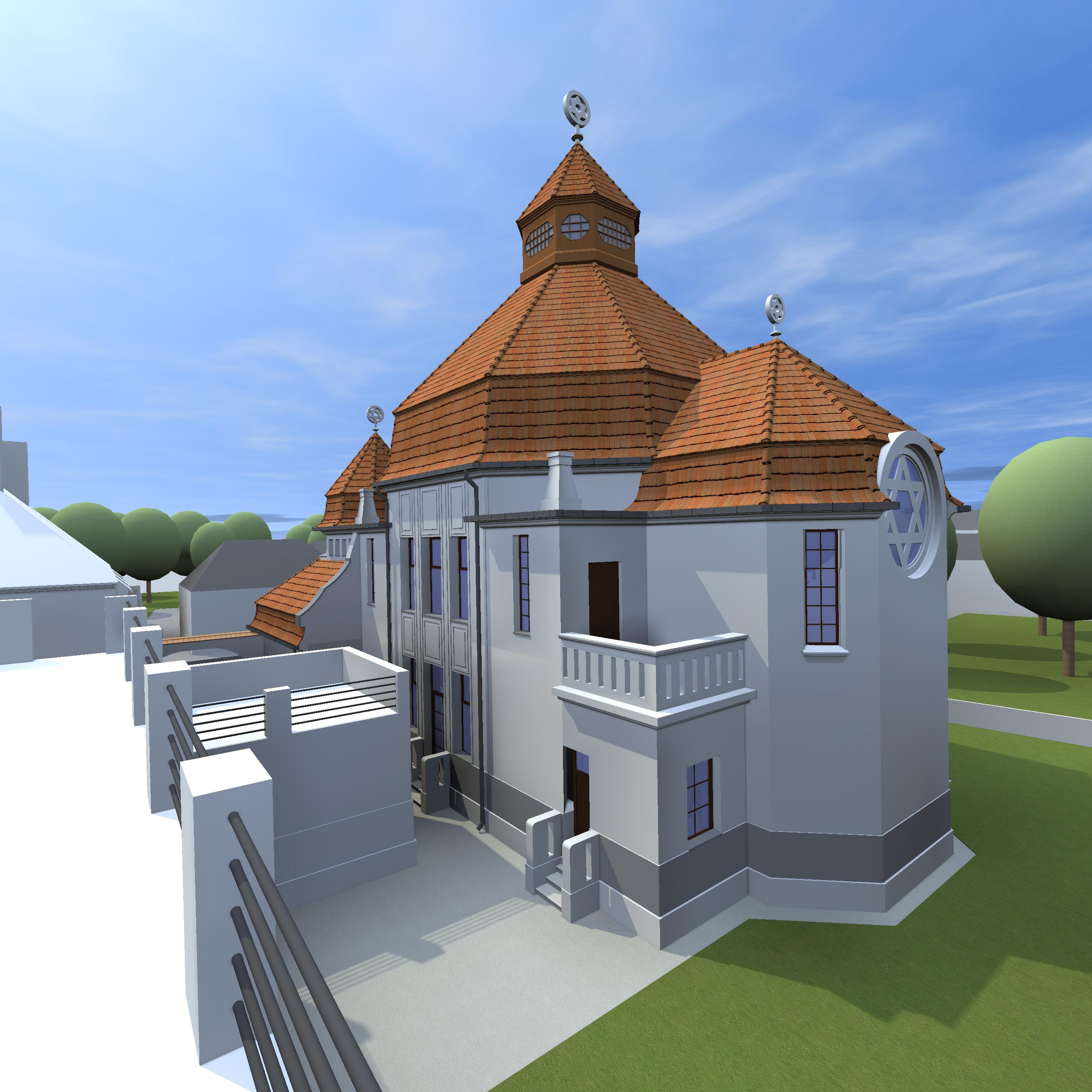 Südfassade der Synagoge
