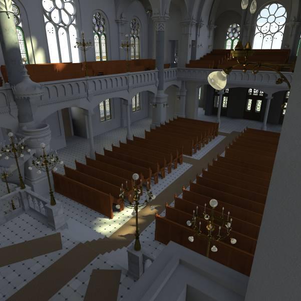 Innenperspektive in Richtung des Eingangsbereichs