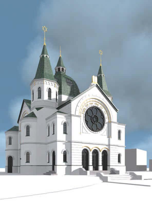 Synagoge aus der Nordwestperspektive