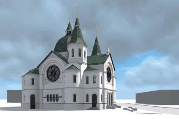 Synagoge aus der Nordperspektive