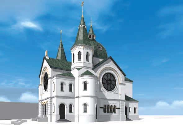 Synagoge aus der Südperspektive