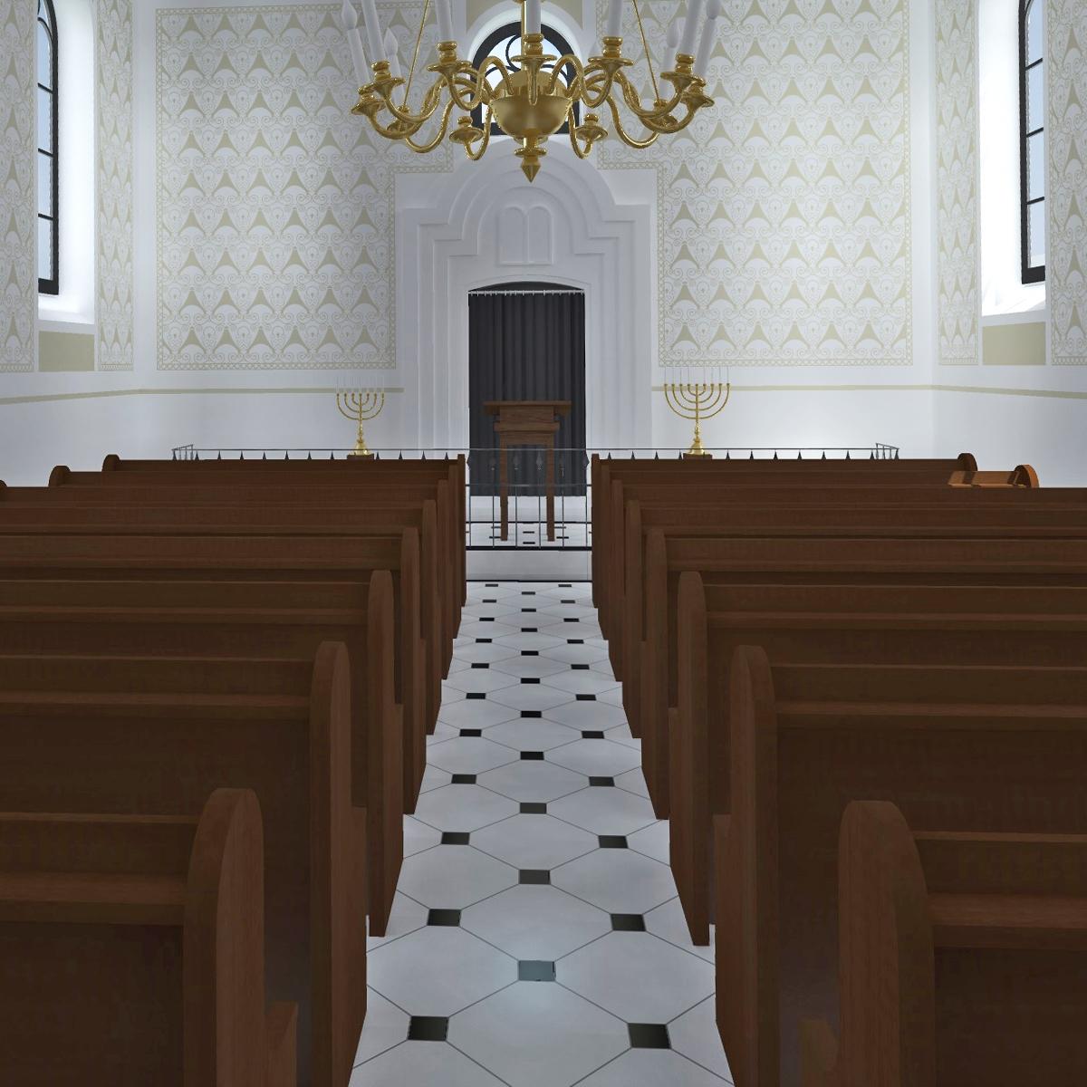 Betsaal mit Blick Richtung Südosten