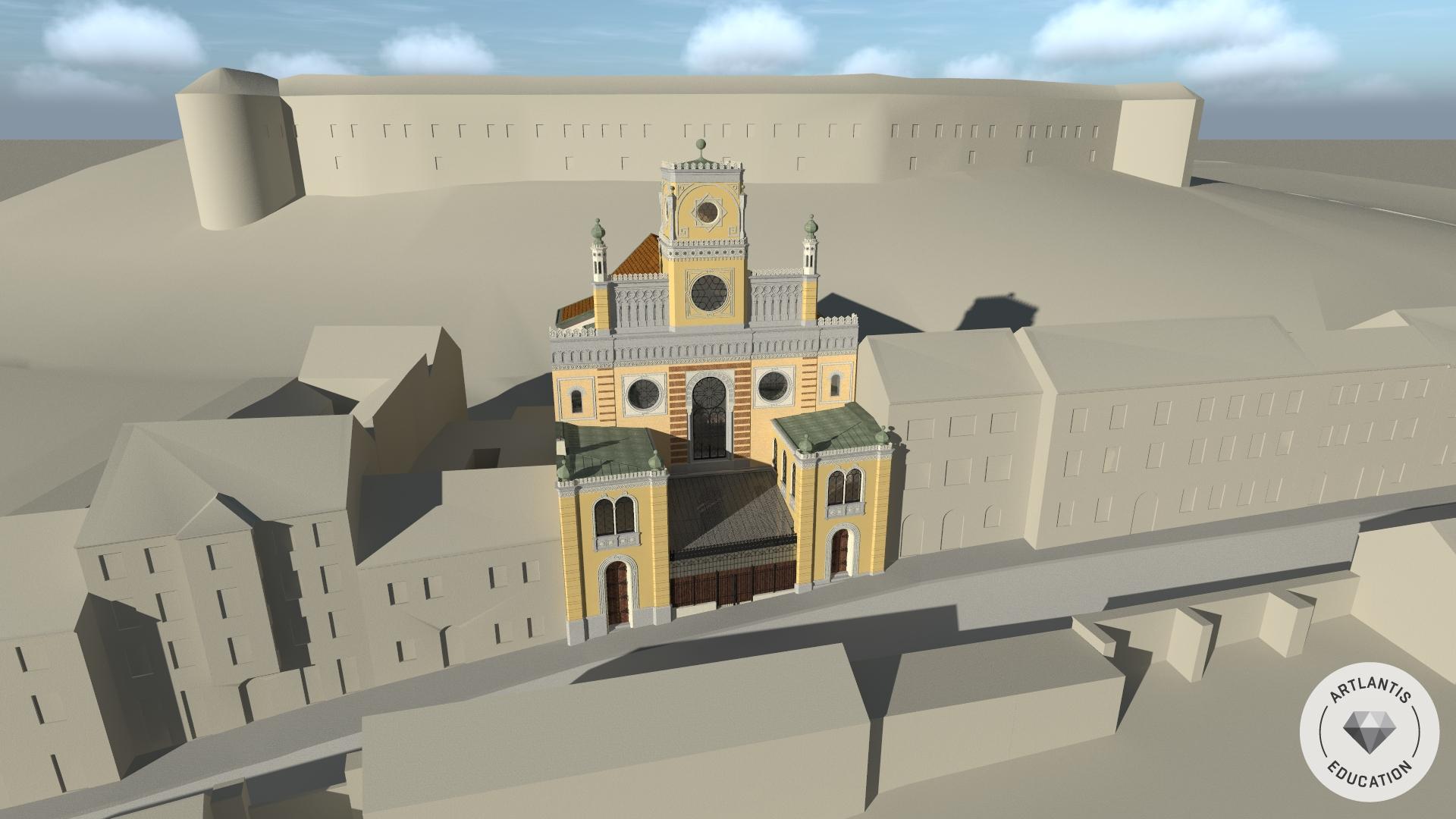 Städtebauliche Situation mit Blick Richtung Schlossberg