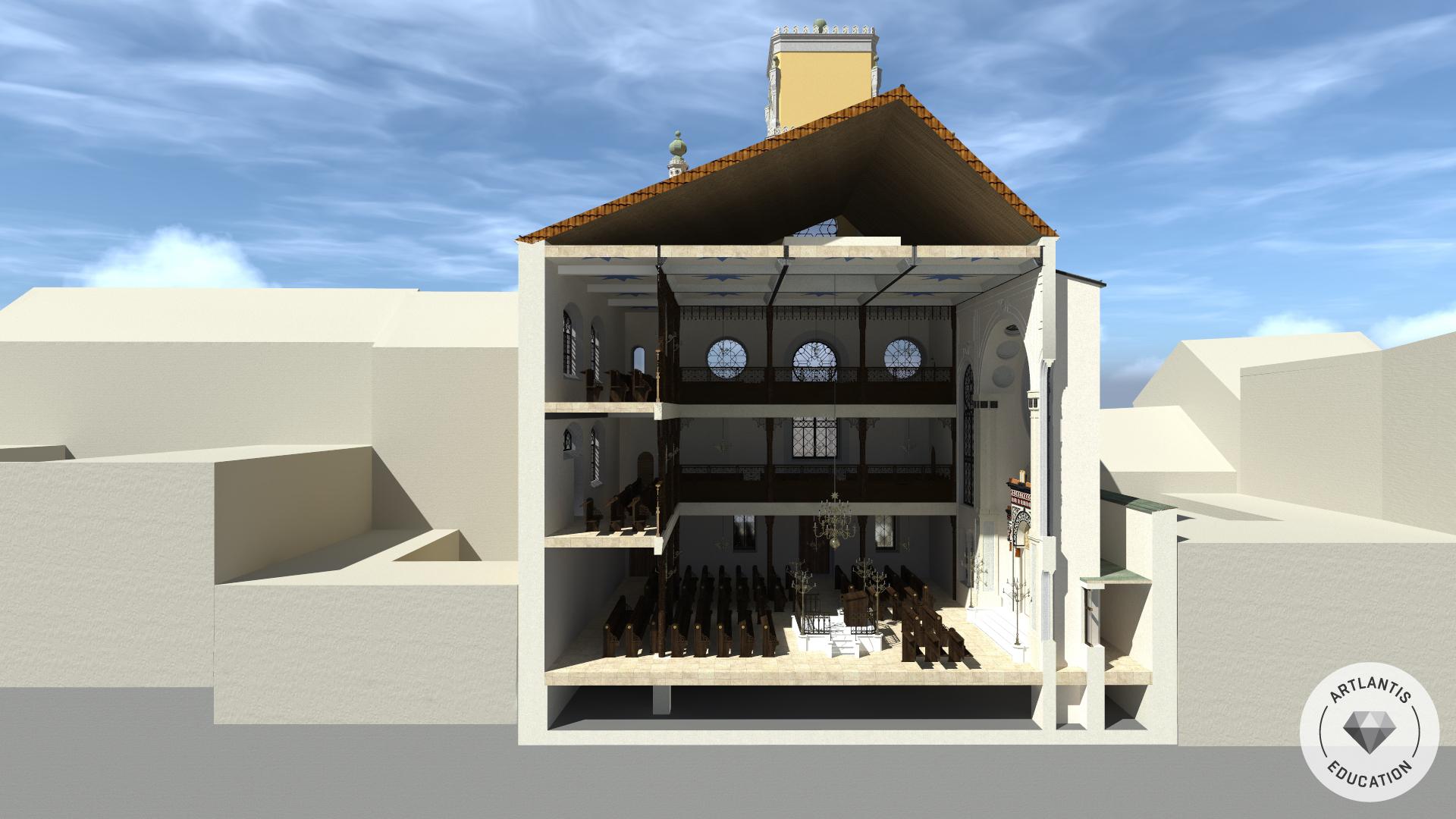 3D-Querschnitt (Richtung Straßenfassade)