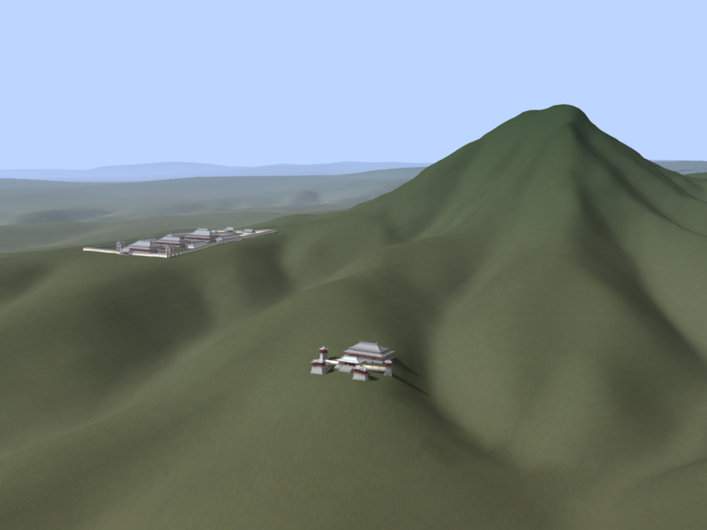 Das Südtor ist der ursprünlgiche Zugang zu der Grabanlage von der Ebene bei Xi´an aus.