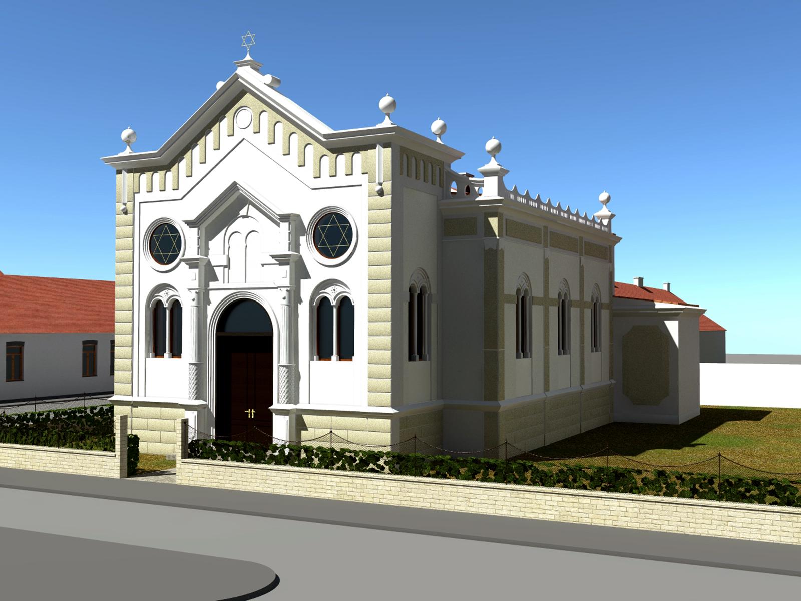Aussenansicht der Synagoge von Südwesten