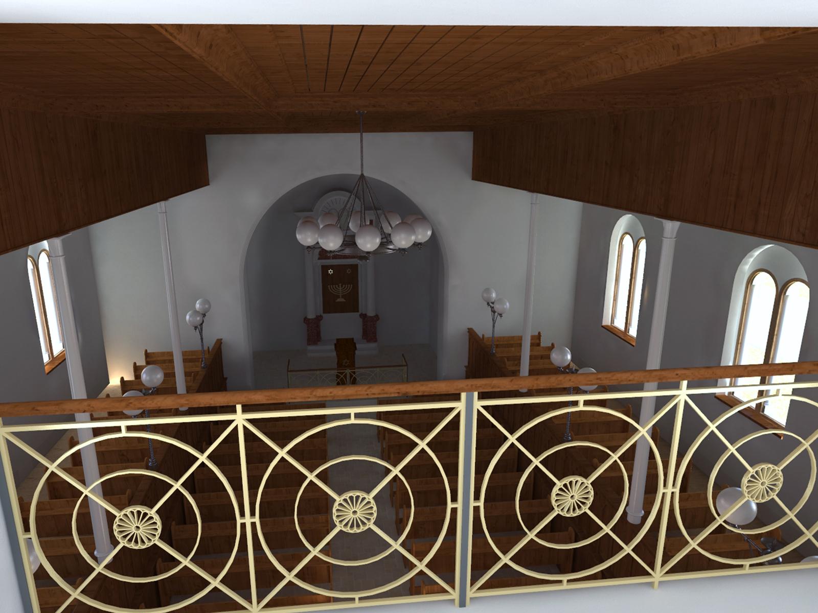 Innenansicht der Synagoge  - Chorraum