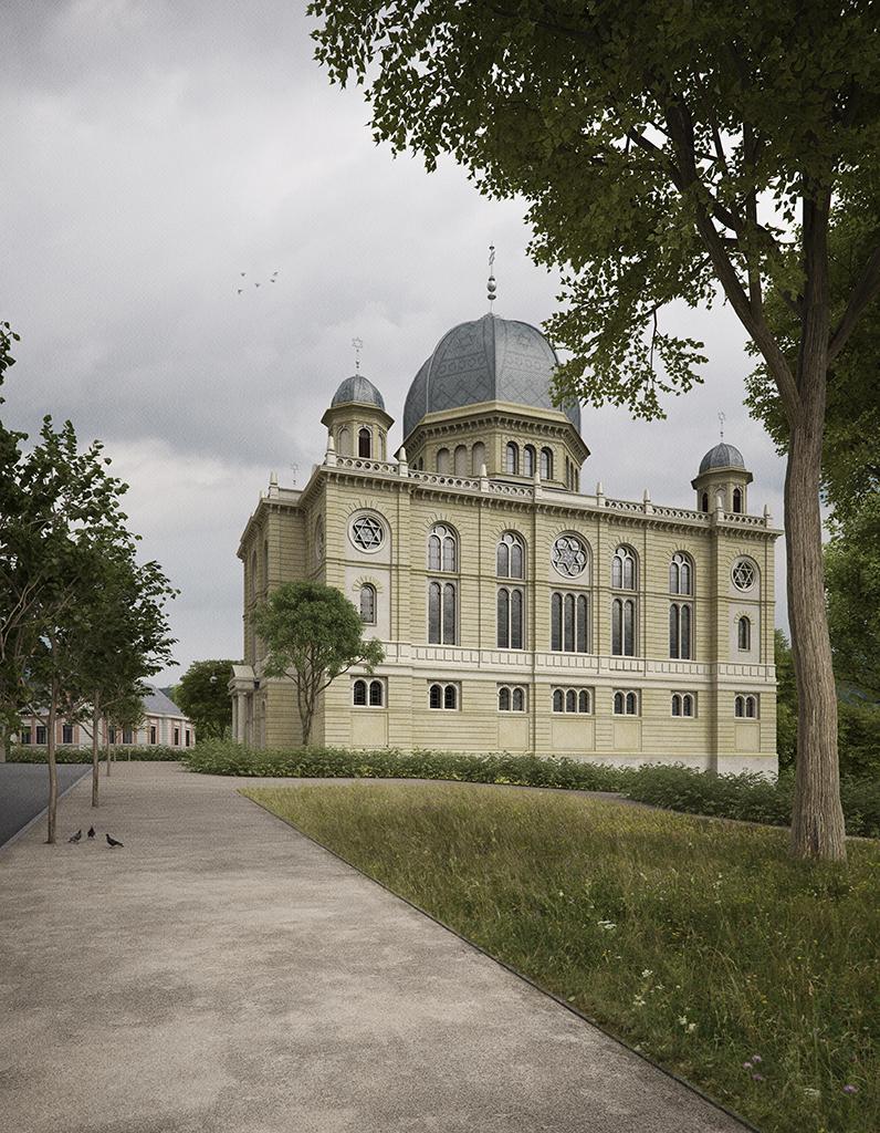 Blick aus dem Synagogengarten