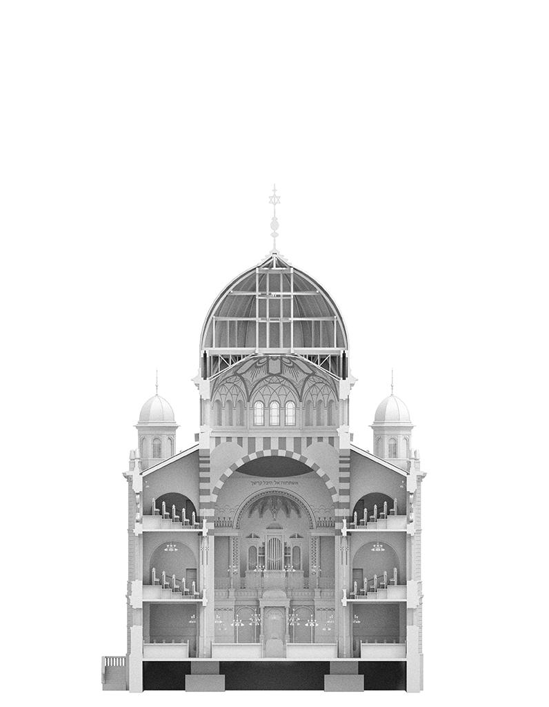 Querschnitt Blick Richtung Altar