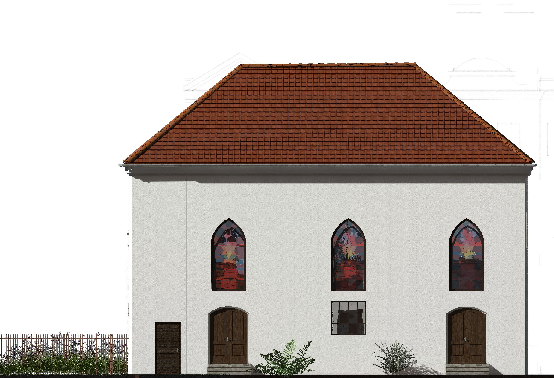 Südfassade der alten Synagoge