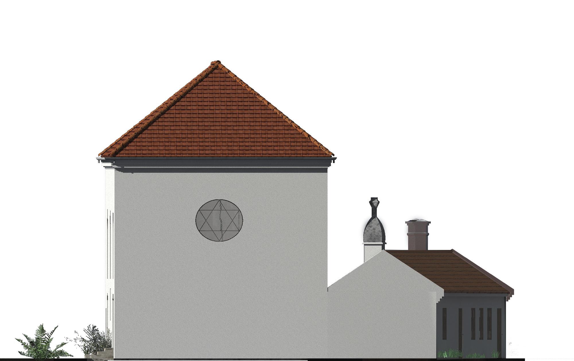 Ostfassade der alten Synagoge