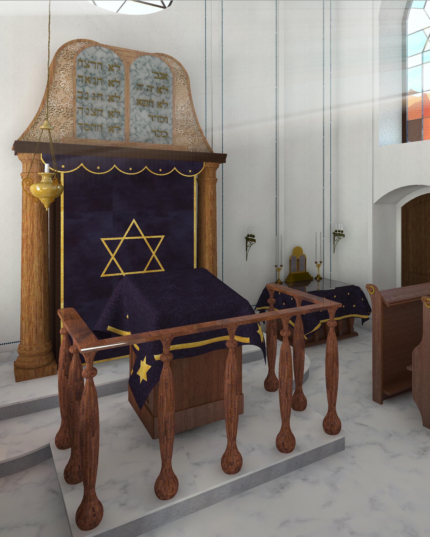 Alte Synagoge - Innenraum mit Blick auf den Thoraschrein