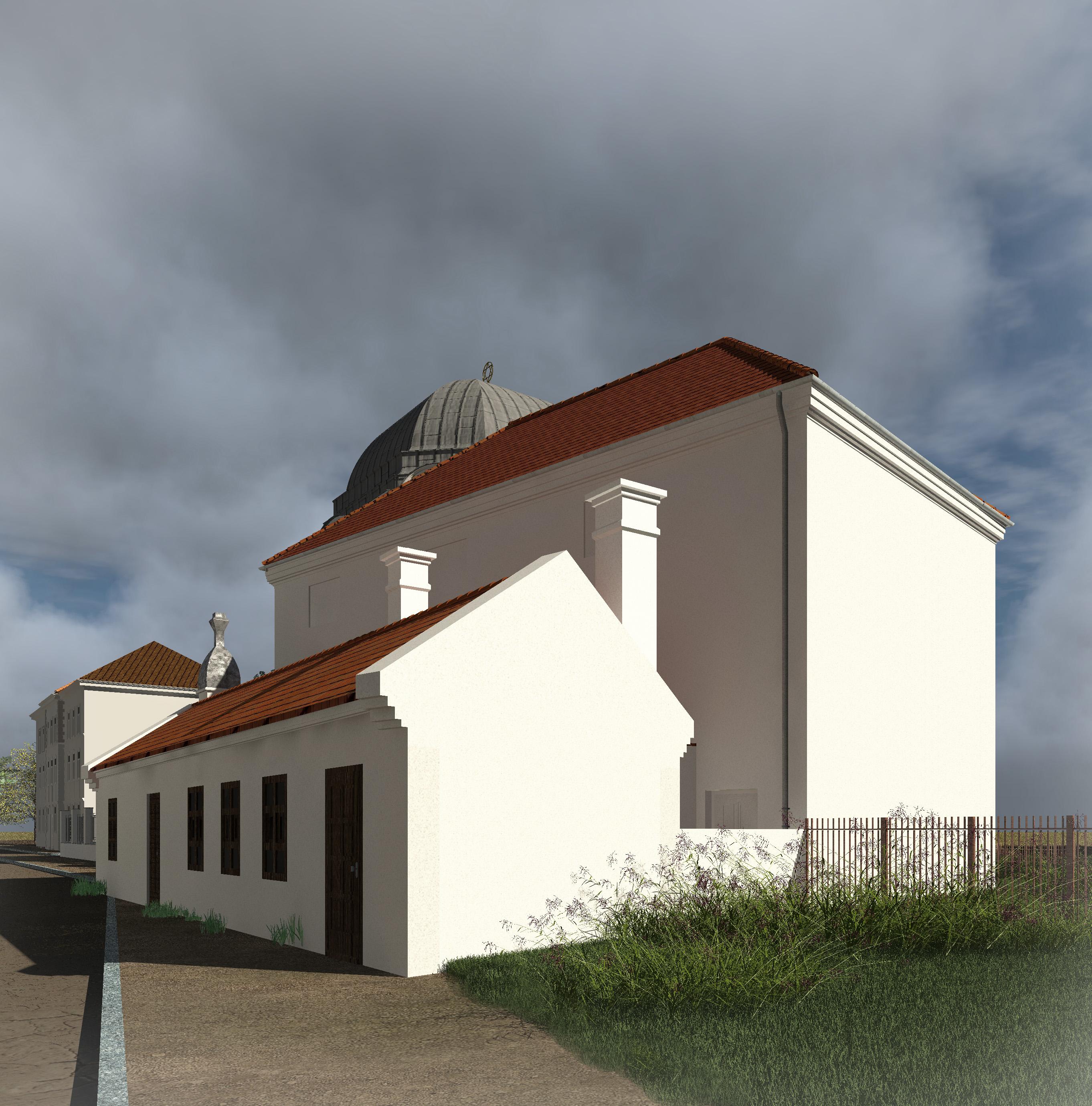 Alte und neue Synagoge - Blick Richtung Osten