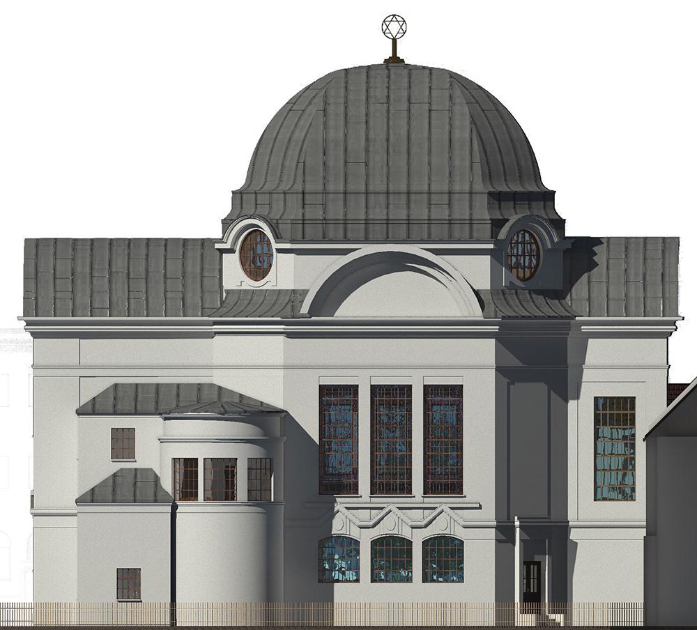 Südfassade der neuen Synagoge