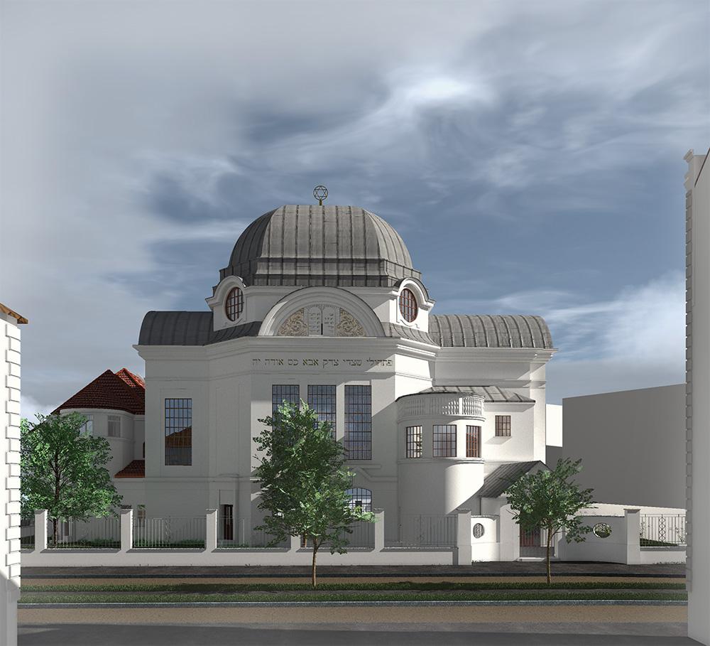 Neue Synagoge - Blick Richtung Süden