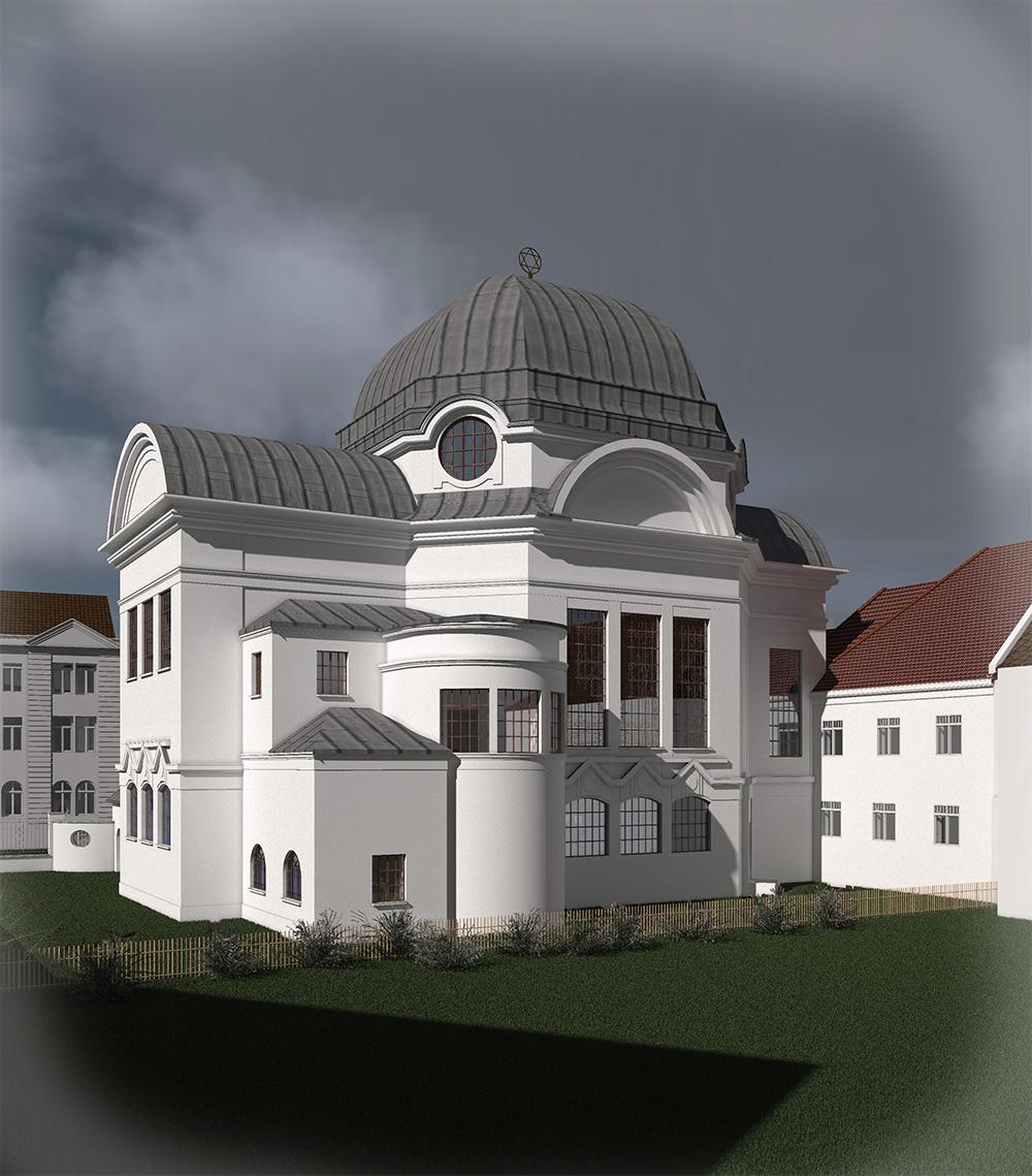 Neue Synagoge - Blick Richtung Nordosten