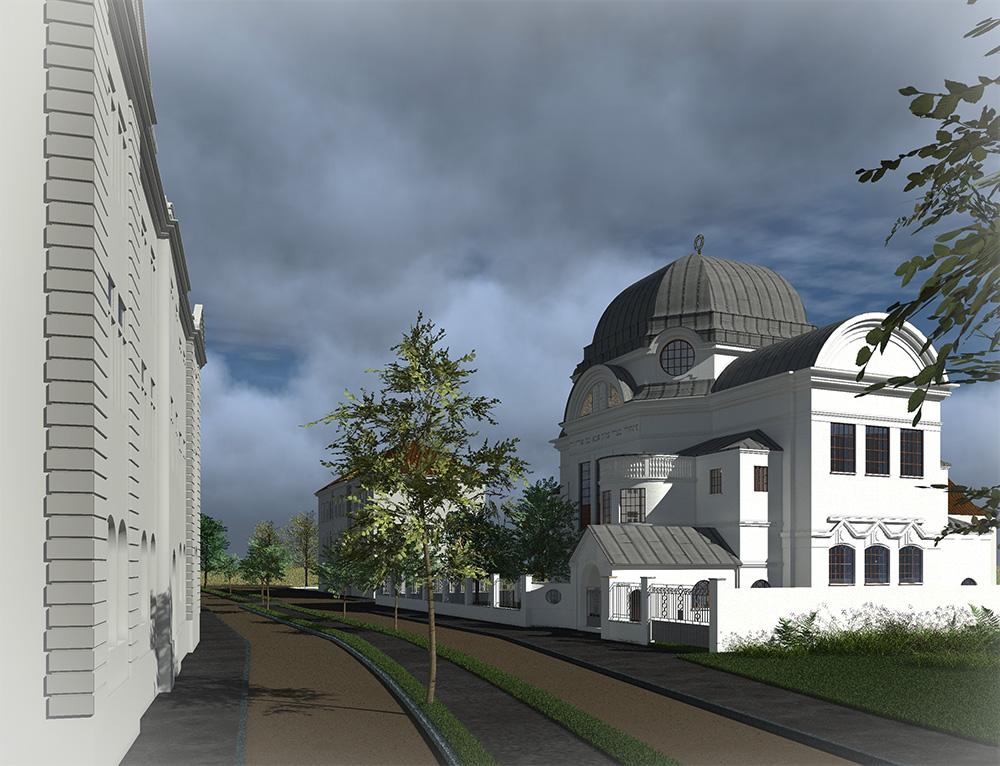 Neue Synagoge - Blick Richtung Südosten
