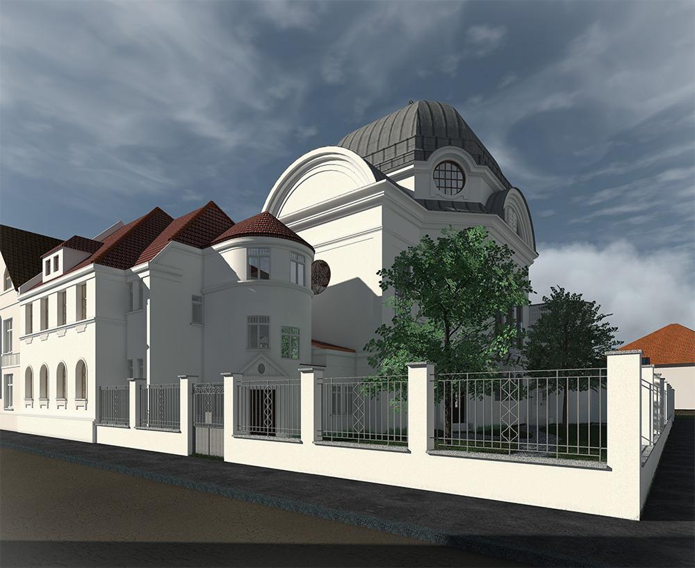 Neue Synagoge - Blick Richtung Südwesten