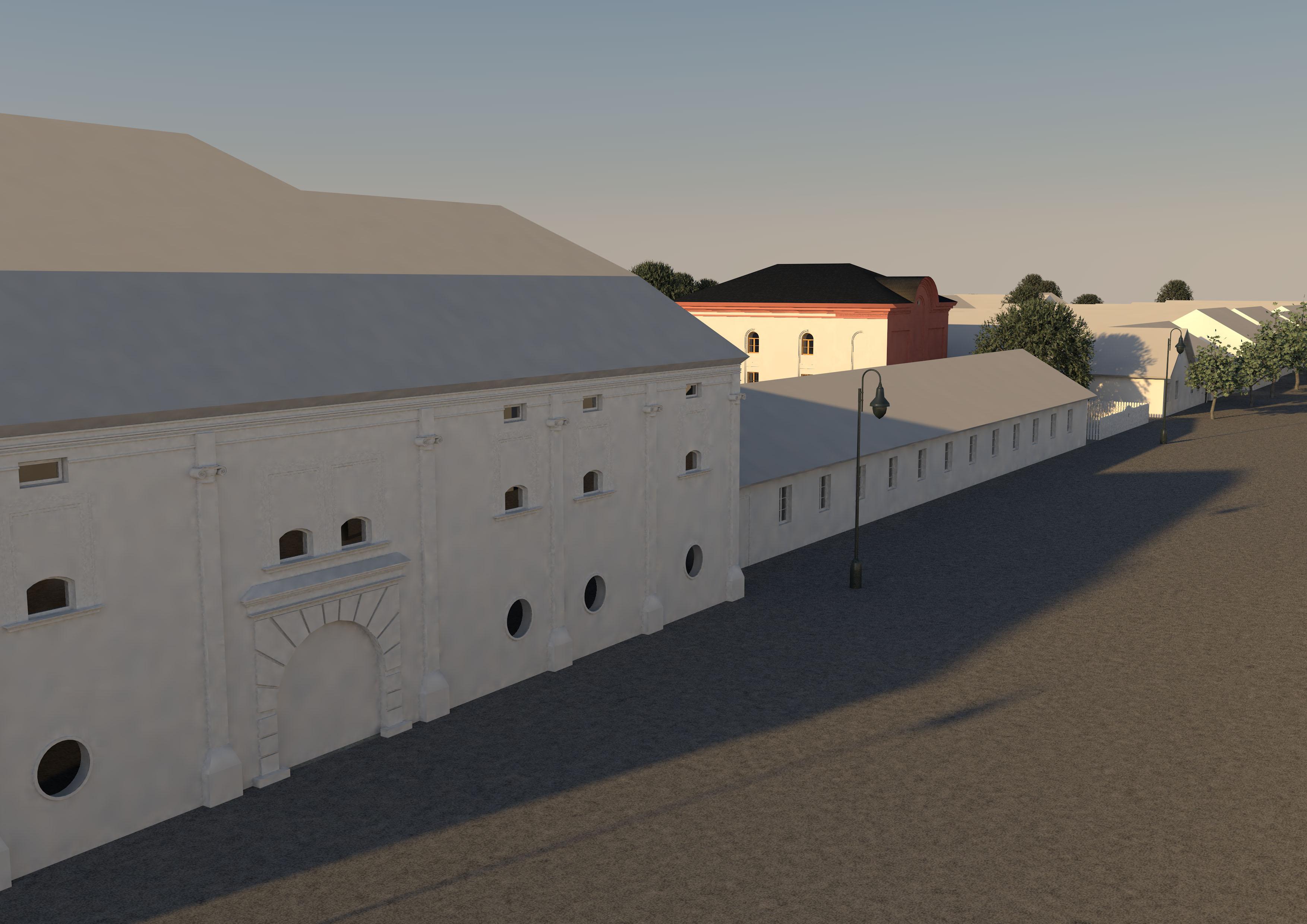Ansicht Straßenflucht Synagoge