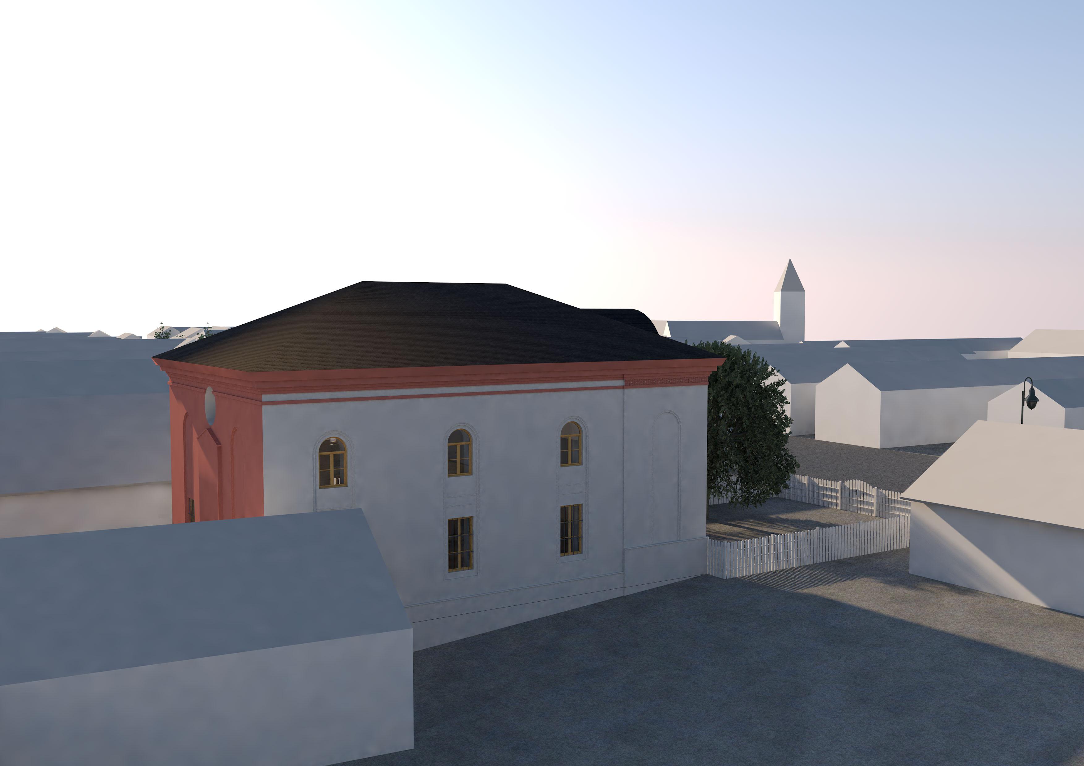 Ansicht Westseite Synagoge