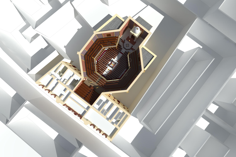 3D-Schnitt 1.OG, Visualisierung