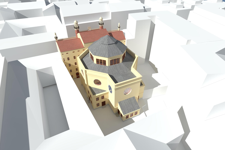 Ansicht Ostfassade, Visualisierung