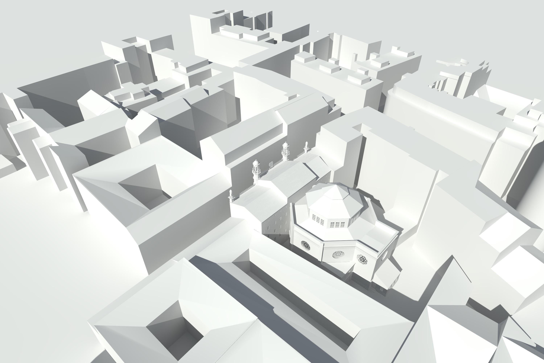 Städtebauliche Situation, Weißrendering