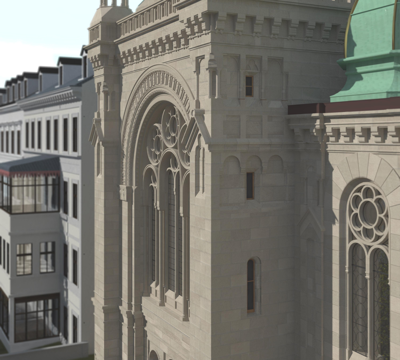 Detail der Westfassade